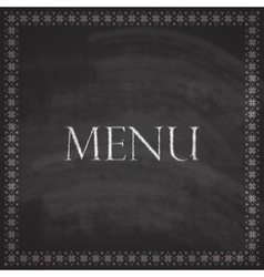 Vintage with restaurant menu design on blackboard vector
