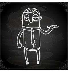 Waitor Drawing on Chalk Board vector