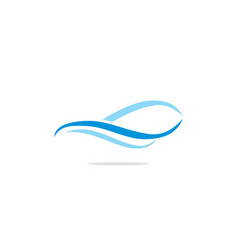 wave abstract water logo vector image