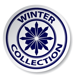 Winter collection sticker vector