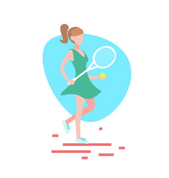 woman tennis player hold racket white background vector image