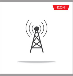 antenna icon symbols on white background vector image vector image
