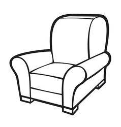 armchair - leather tub chair vector image