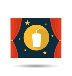 concept cinema theater drink graphic design vector image vector image