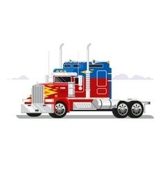 Fura truckers flat design vector image vector image