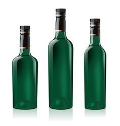 green wine bottles vector image vector image