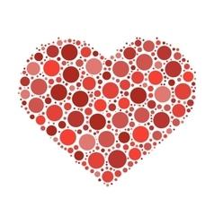 Heart mosaic of dots vector image vector image