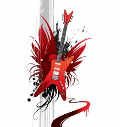 heavy guitar vector image vector image