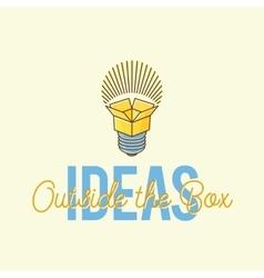 Ideas Outside The Box Abstract Concept Logo vector image
