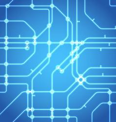 Seamless background of glowing metro scheme vector image vector image