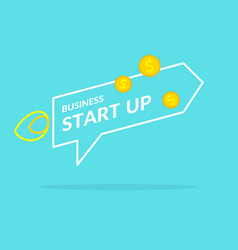 Start up in flat style income and success vector