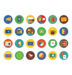 Webinar Icons Set Learn Education or vector image vector image