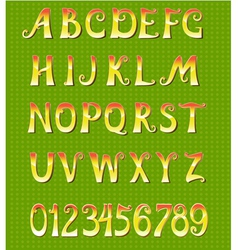 gold font vector image vector image