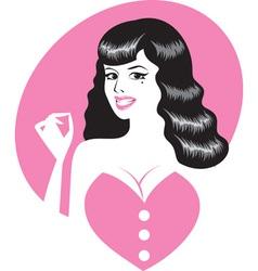 pinup girl portrait vector image