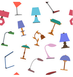 seamless background of of table lamp vector image