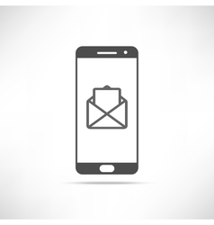 Smartphone Message Icon vector image