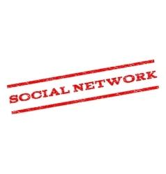 Social network watermark stamp vector