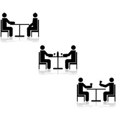 Table meetings vector image