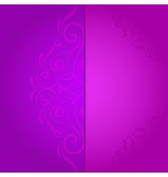 background for invitation with violet floral vector image vector image