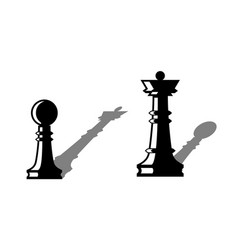 chess figures leadership concept vector image vector image
