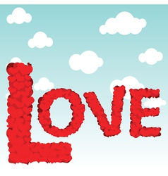 love type vector image vector image
