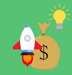 successful launch start up idea vector image