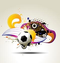 football artistic design vector image