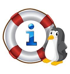 Penguin Information Kiosk Sign vector image