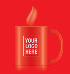 Red coffee mug vector