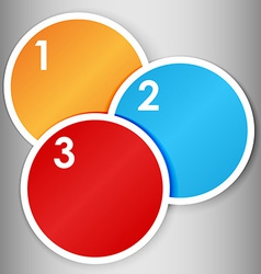 Set of numbered round stickers vector image vector image