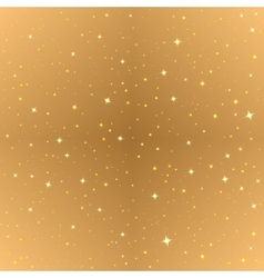 Abstract gold seamless background Golden starry vector image