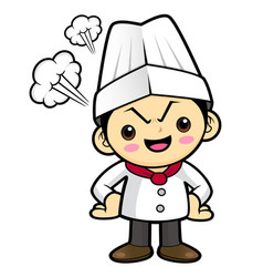 Angry cook character flare up in anger isolated vector