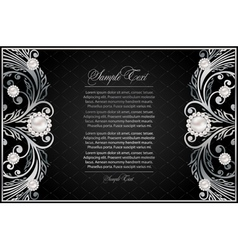 antique black background vector image