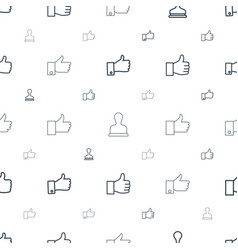 Approve icons pattern seamless white background vector