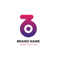 B letter gradient logo design vector