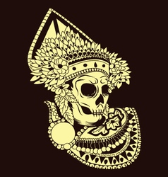 Baris Skull Balinese Dances vector