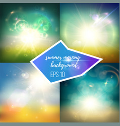 Bright green and blue backgrounds set vector