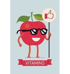 Bright Vitamins Banner vector image