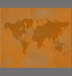 brown world map grunge old map background textur vector image