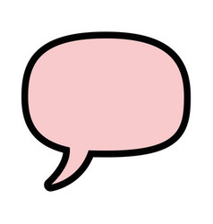 Bubble chat isolated vector