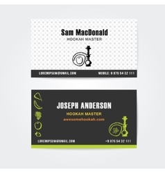 Business card design template of hookah vector
