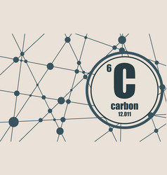 carbon chemical element vector image