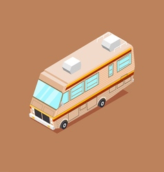 Cartoon Isometric Motorhome vector image