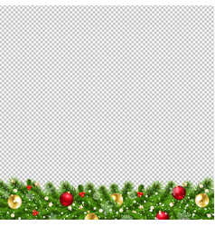 christmas garland isolated transparent background vector image