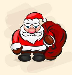 Classic santa in red suit vector