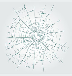 Cracks broken glass vector
