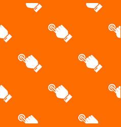 cursor hand click pattern orange vector image