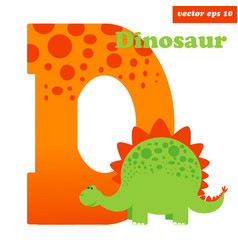 d with dinosaur vector image