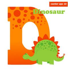 D with dinosaur vector