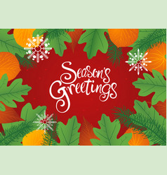 Decorative leaves background for christmas vector